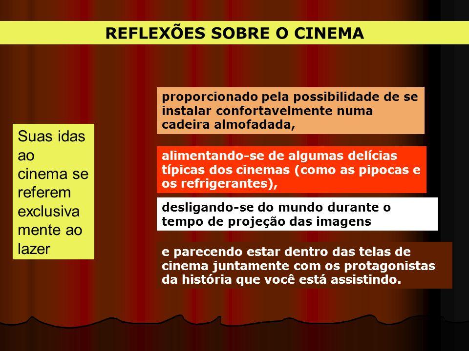 REFLEXÕES SOBRE O CINEMA