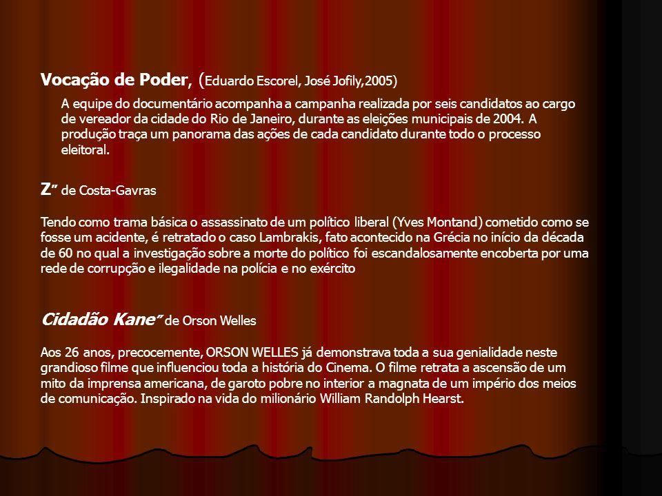Vocação de Poder, (Eduardo Escorel, José Jofily,2005)