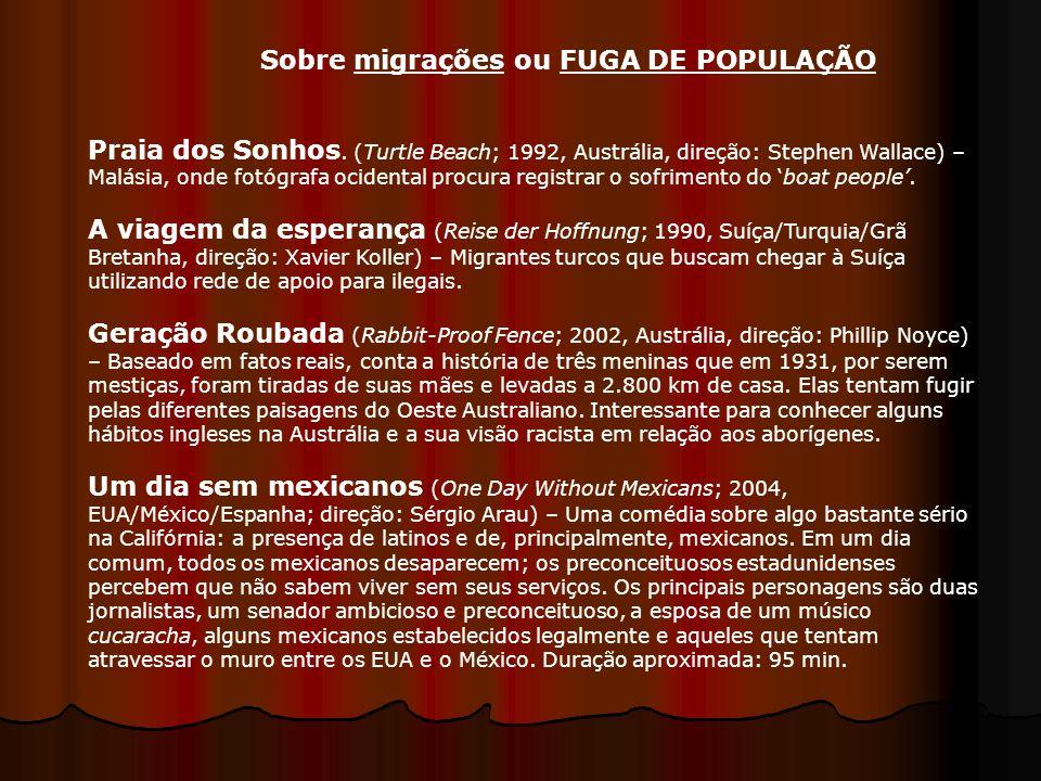 Sobre migrações ou FUGA DE POPULAÇÃO
