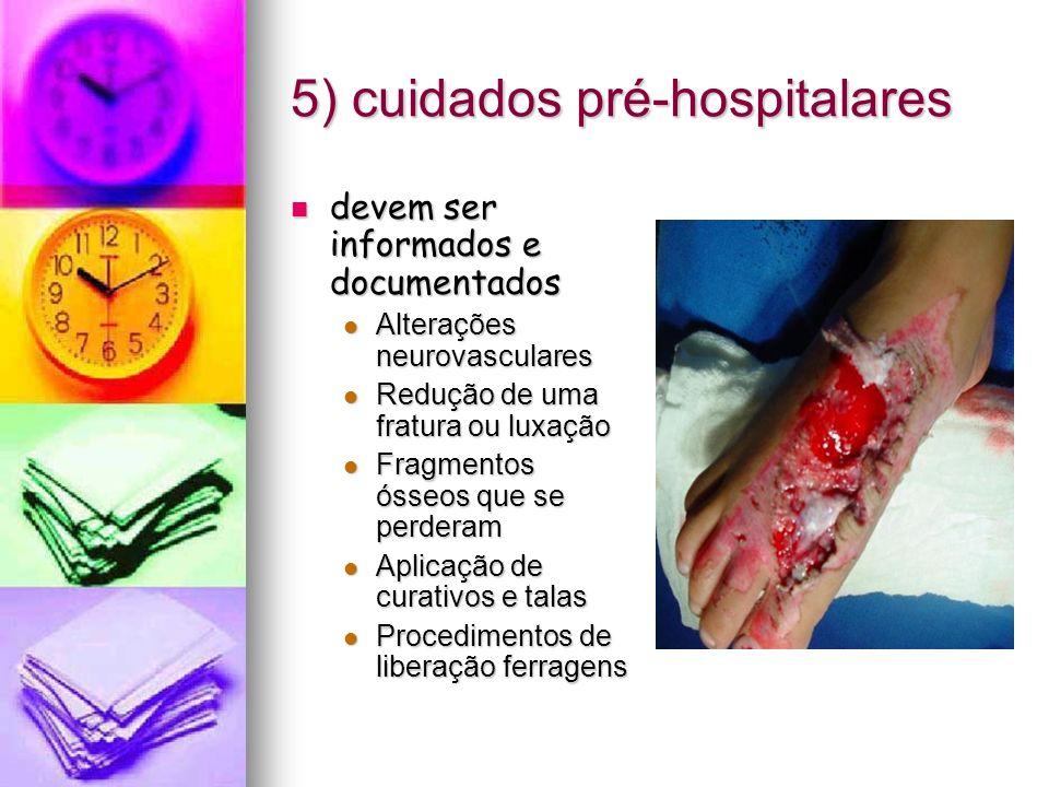 5) cuidados pré-hospitalares