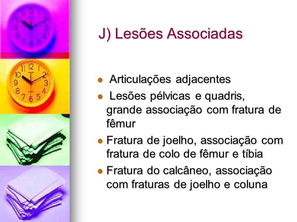 J) Lesões Associadas Articulações adjacentes