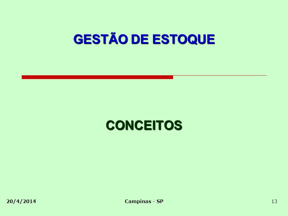 GESTÃO DE ESTOQUE CONCEITOS