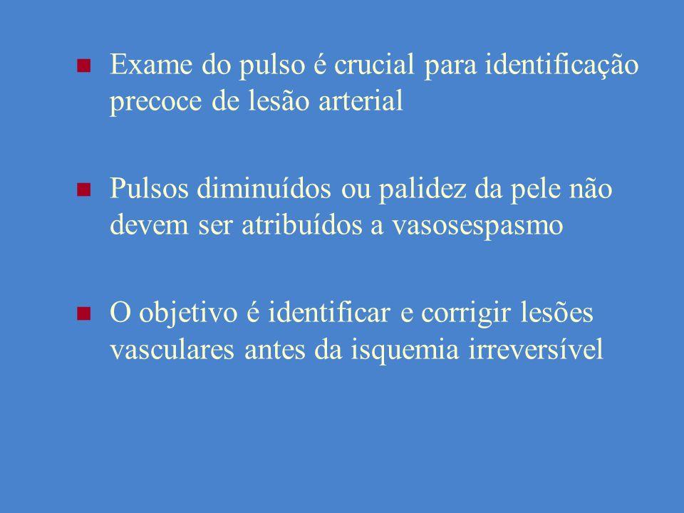 Exame do pulso é crucial para identificação precoce de lesão arterial