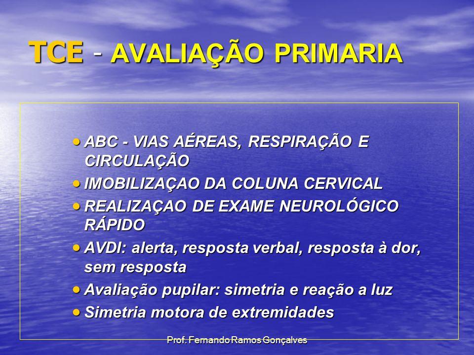 TCE - AVALIAÇÃO PRIMARIA