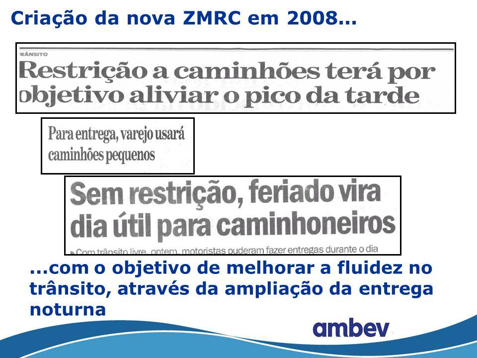 Criação da nova ZMRC em 2008...