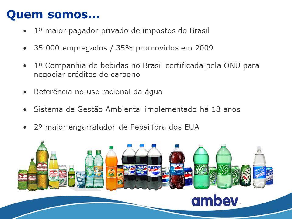 Quem somos... 1º maior pagador privado de impostos do Brasil