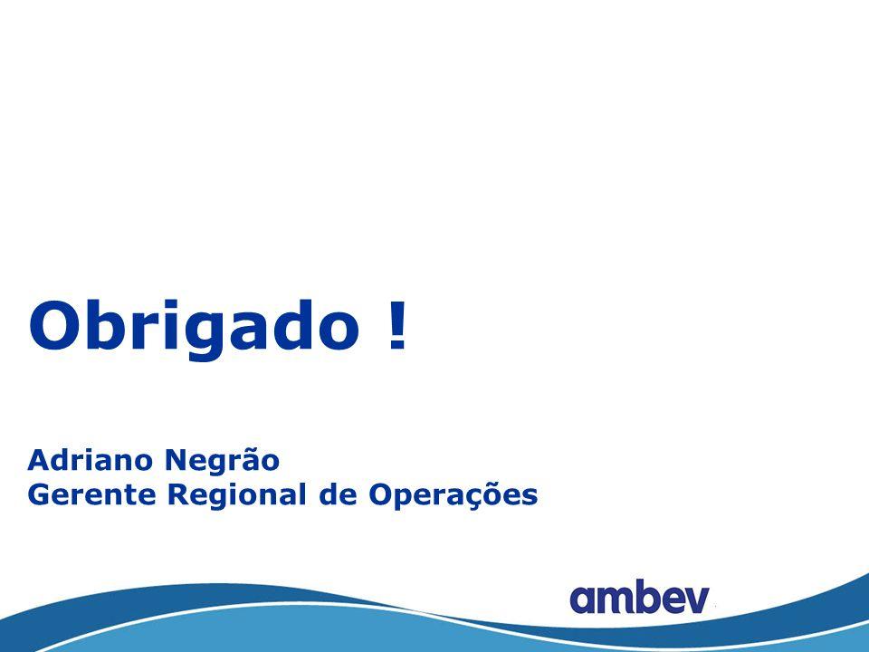 Obrigado ! Adriano Negrão Gerente Regional de Operações