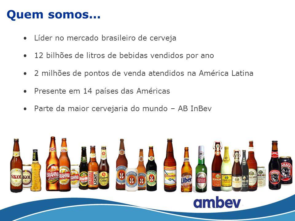 Quem somos... Líder no mercado brasileiro de cerveja