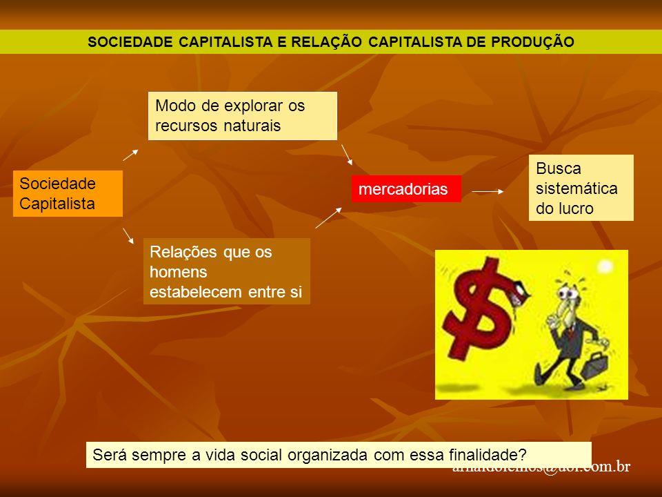 SOCIEDADE CAPITALISTA E RELAÇÃO CAPITALISTA DE PRODUÇÃO