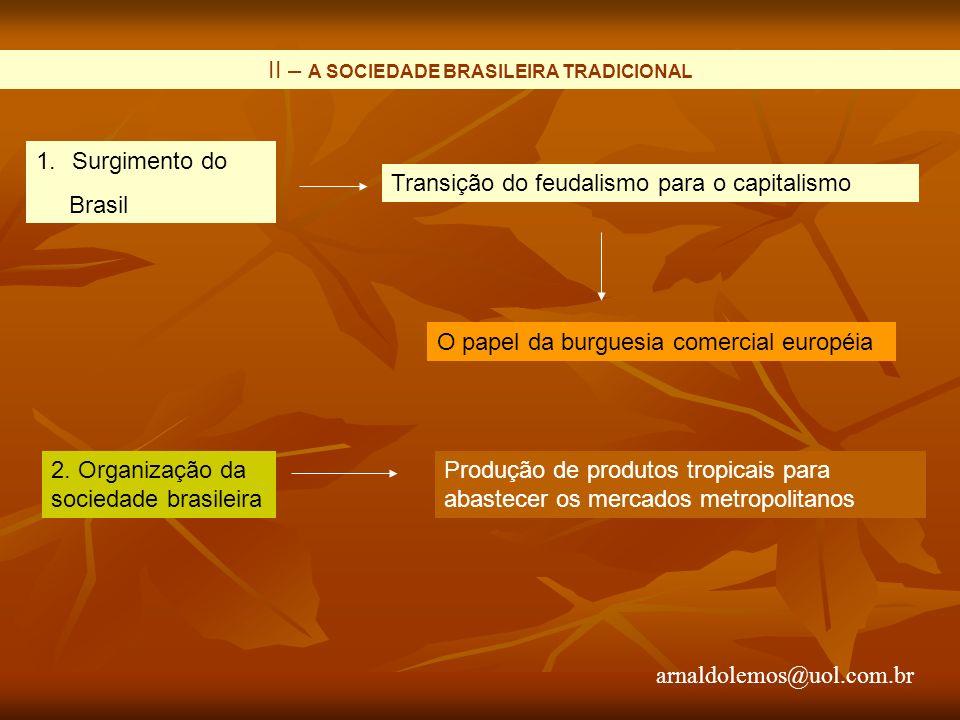 II – A SOCIEDADE BRASILEIRA TRADICIONAL