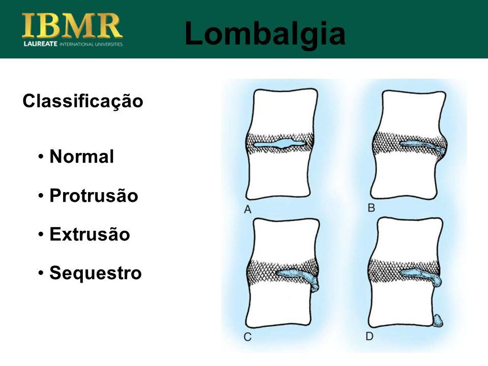 Lombalgia Classificação Normal Protrusão Extrusão Sequestro