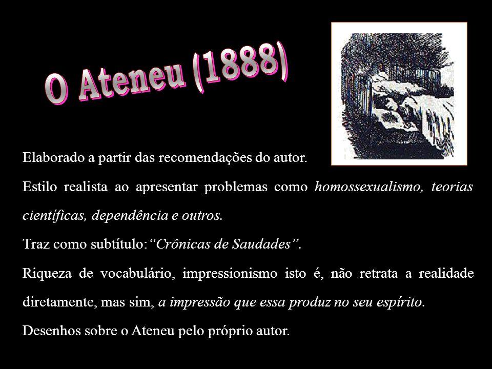 O Ateneu (1888) Elaborado a partir das recomendações do autor.