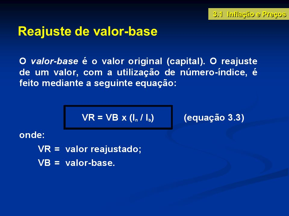 Reajuste de valor-base
