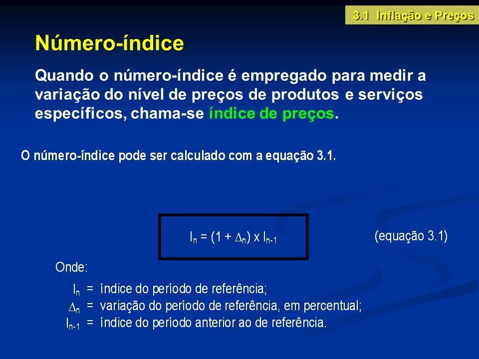 3.1 Inflação e PreçosNúmero-índice.