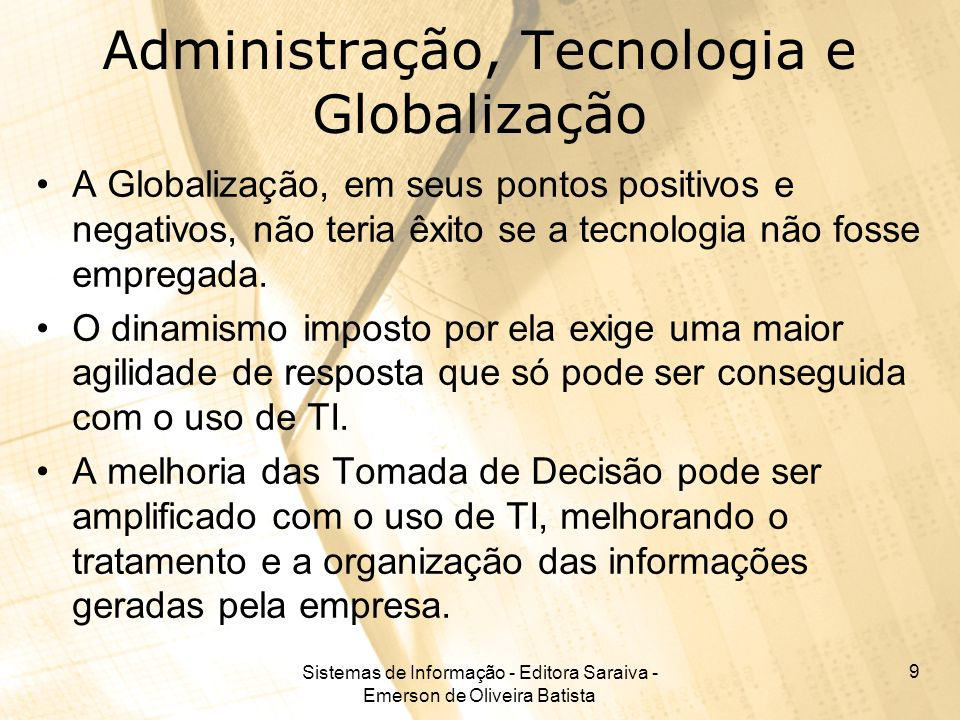 Administração, Tecnologia e Globalização