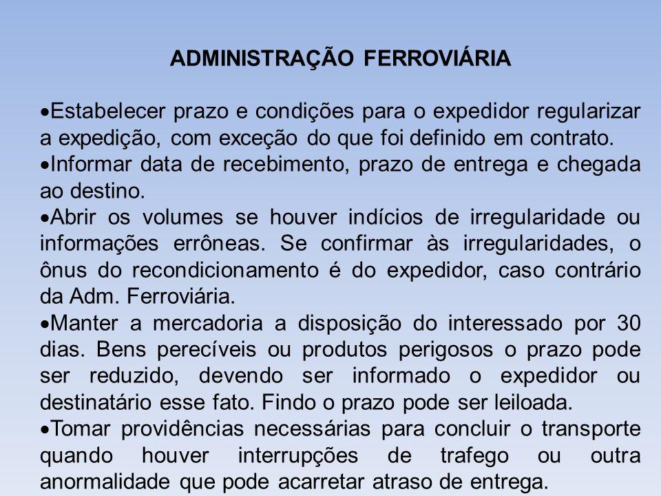 ADMINISTRAÇÃO FERROVIÁRIA