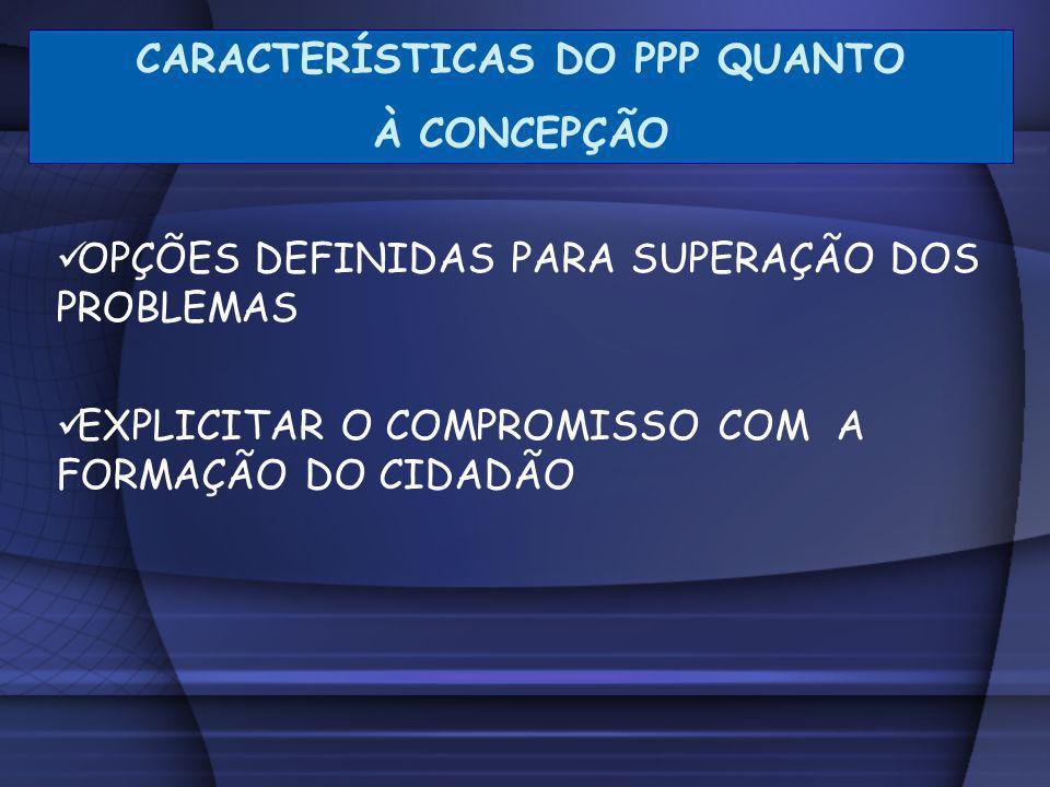 CARACTERÍSTICAS DO PPP QUANTO
