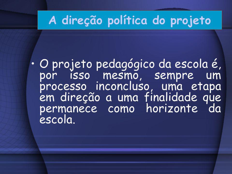 A direção política do projeto