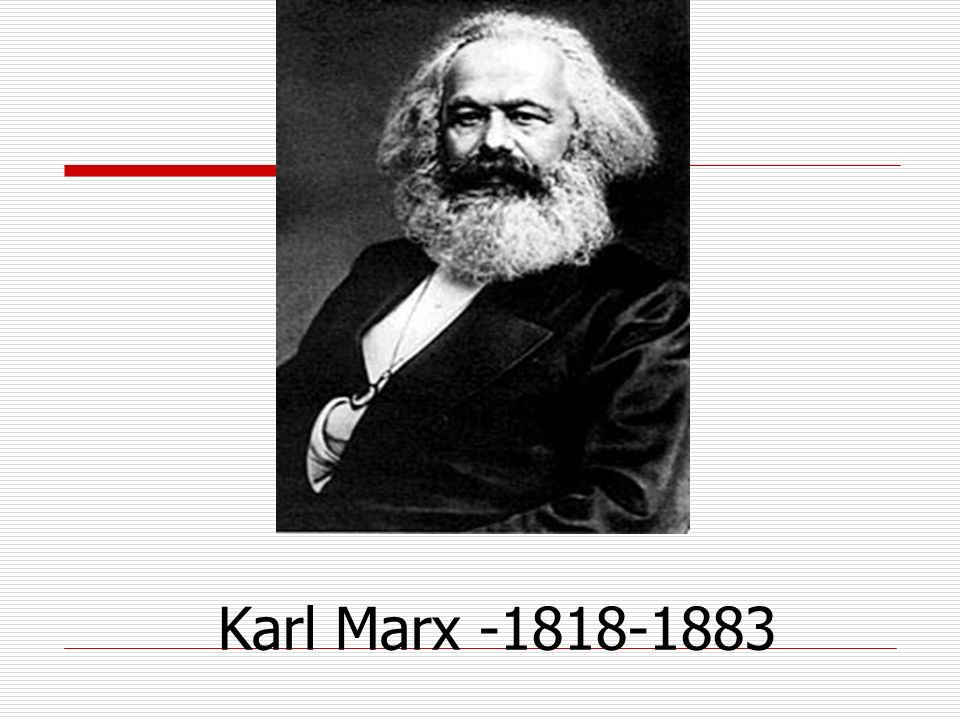 Karl Marx -1818-1883