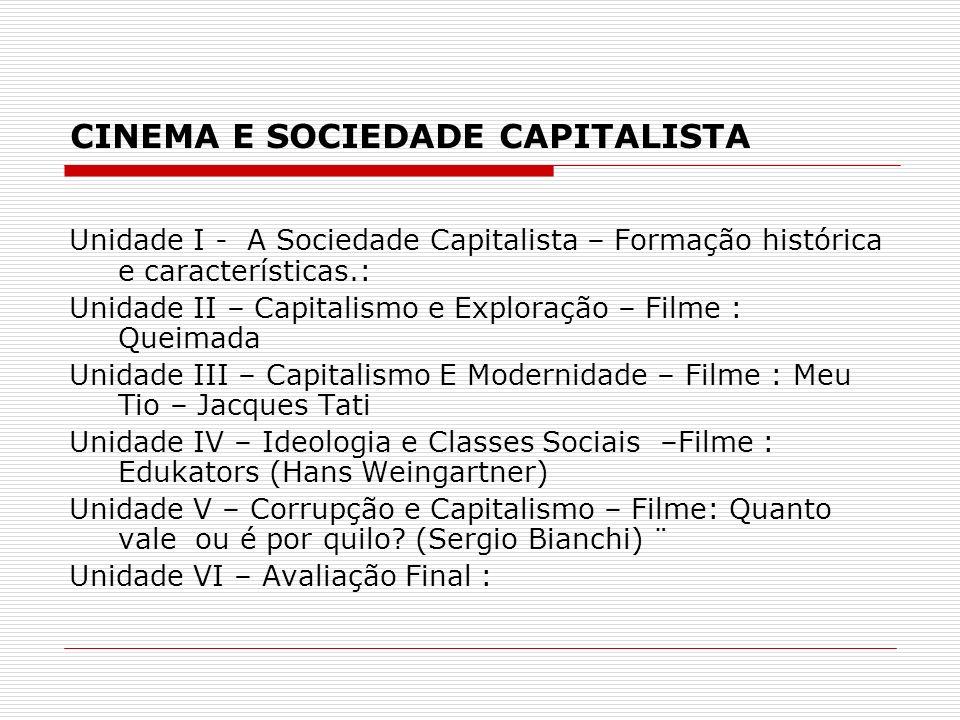 CINEMA E SOCIEDADE CAPITALISTA