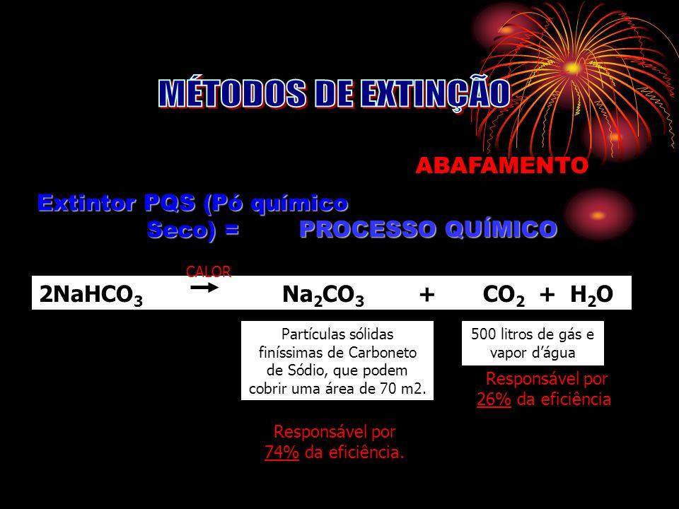 Extintor PQS (Pó químico Seco) =