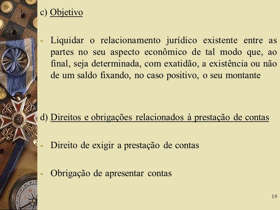 c) Objetivo