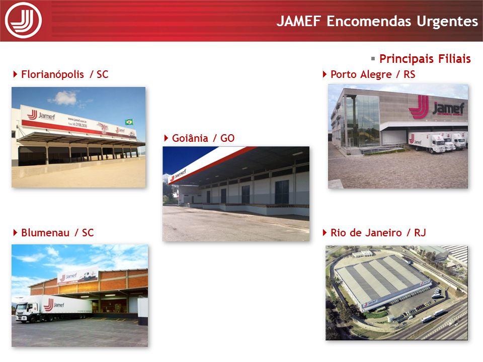 Principais Filiais Florianópolis / SC Porto Alegre / RS Goiânia / GO