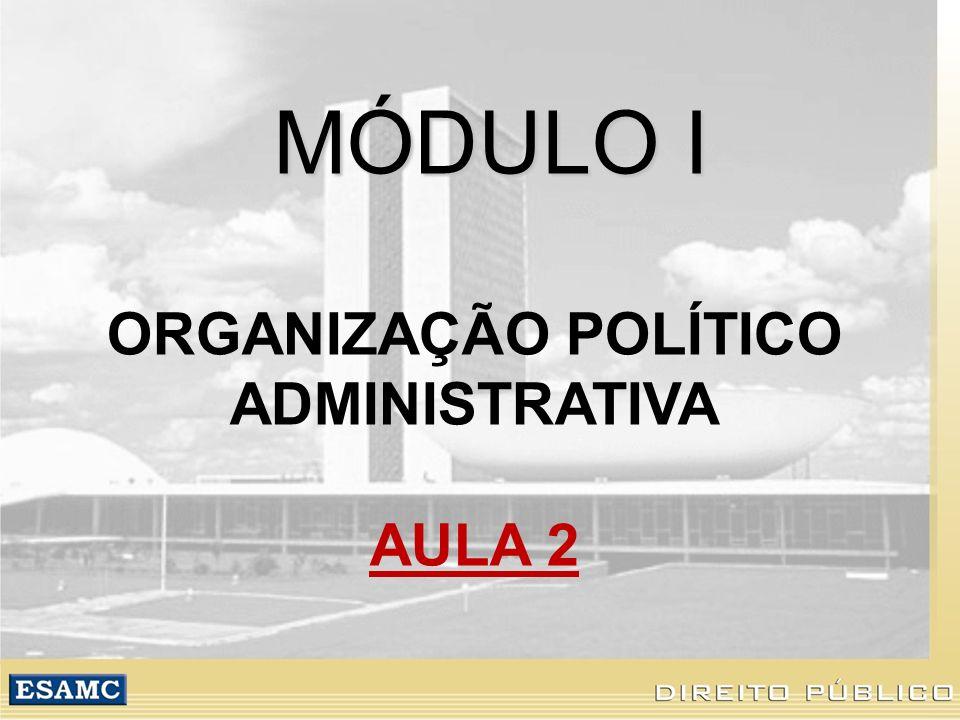 ORGANIZAÇÃO POLÍTICO ADMINISTRATIVA