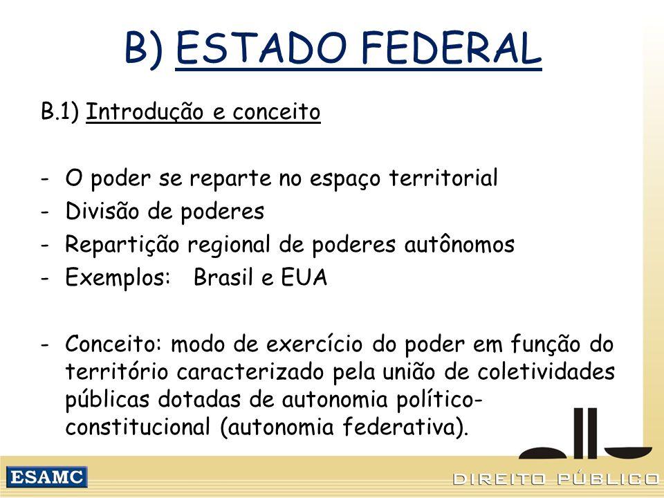 B) ESTADO FEDERAL B.1) Introdução e conceito