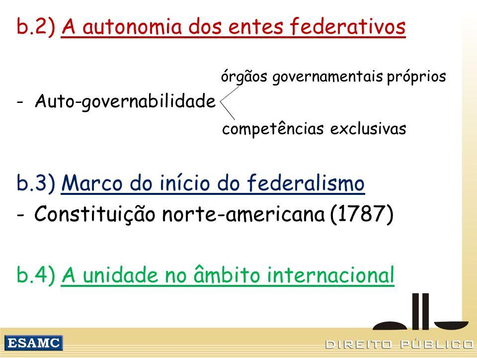 b.2) A autonomia dos entes federativos