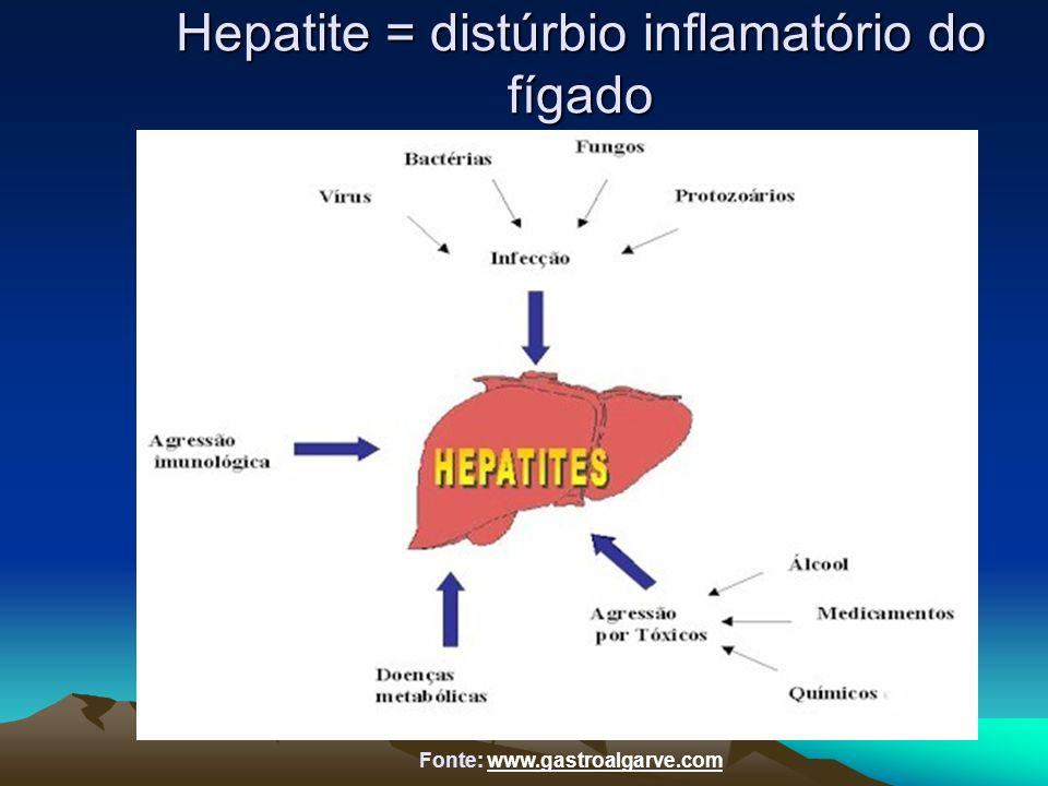 Hepatite = distúrbio inflamatório do fígado