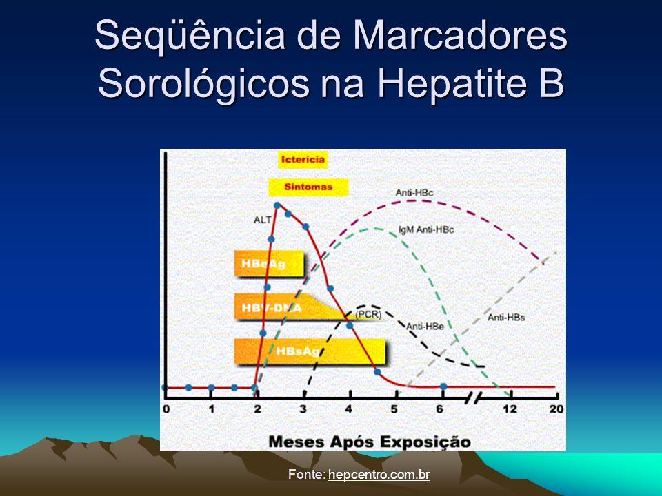 Seqüência de Marcadores Sorológicos na Hepatite B