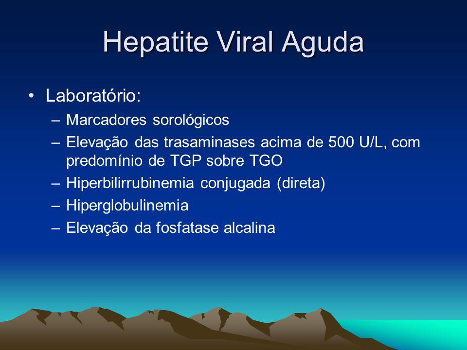 Hepatite Viral Aguda Laboratório: Marcadores sorológicos
