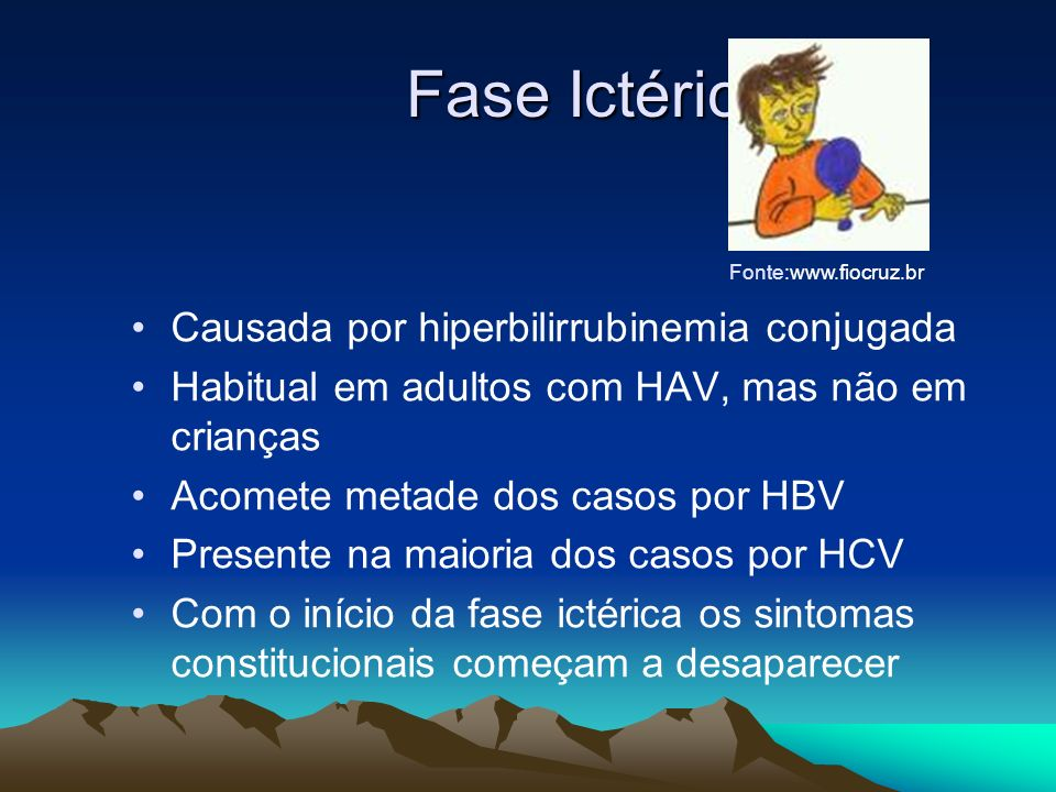 Fase Ictérica Causada por hiperbilirrubinemia conjugada