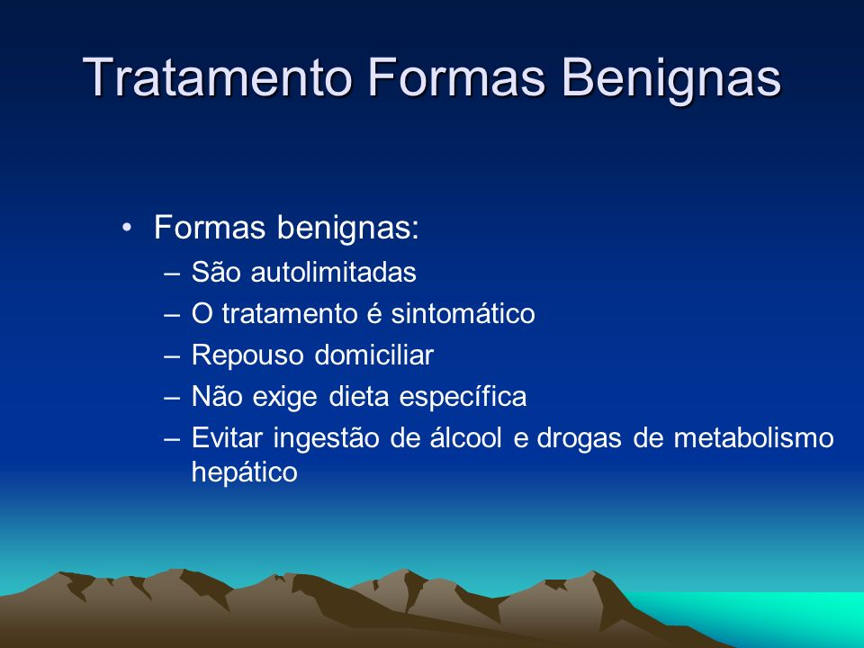Tratamento Formas Benignas