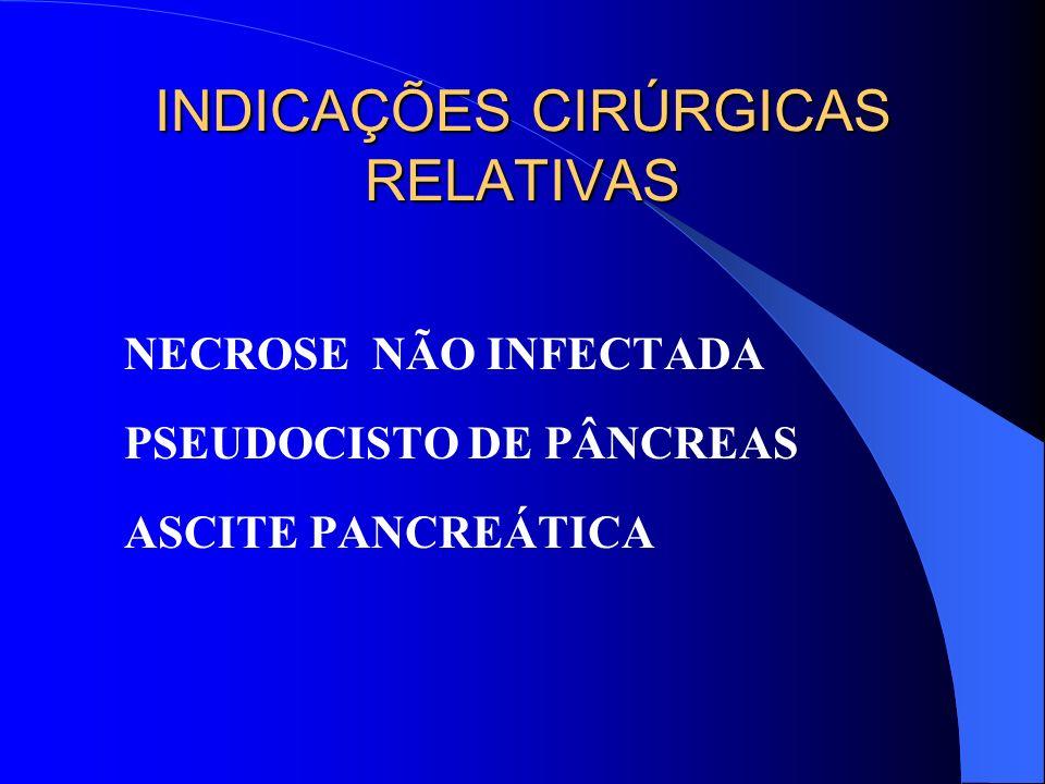 INDICAÇÕES CIRÚRGICAS RELATIVAS
