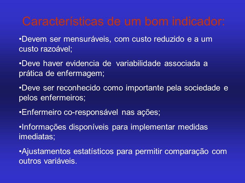 Características de um bom indicador: