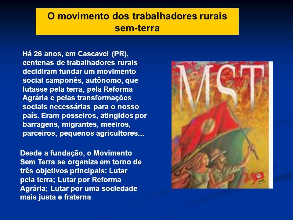 O movimento dos trabalhadores rurais sem-terra