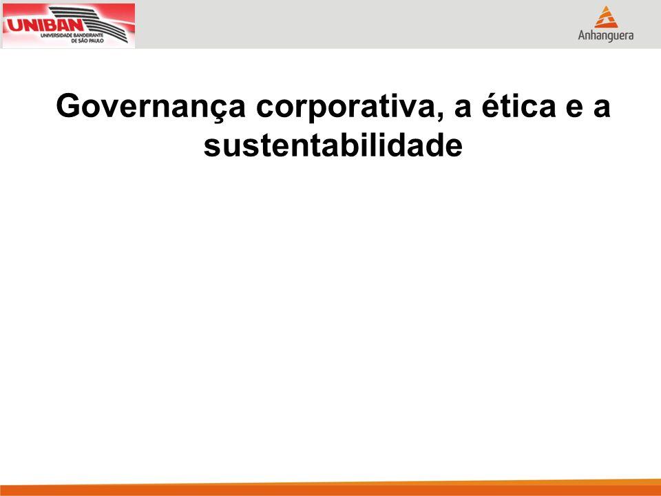 Governança corporativa, a ética e a sustentabilidade