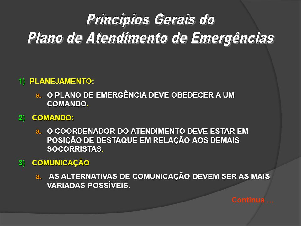 Plano de Atendimento de Emergências