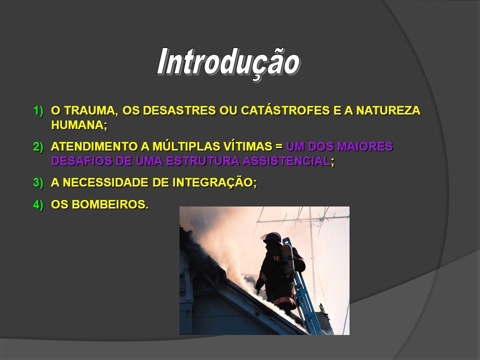 Introdução O TRAUMA, OS DESASTRES OU CATÁSTROFES E A NATUREZA HUMANA;