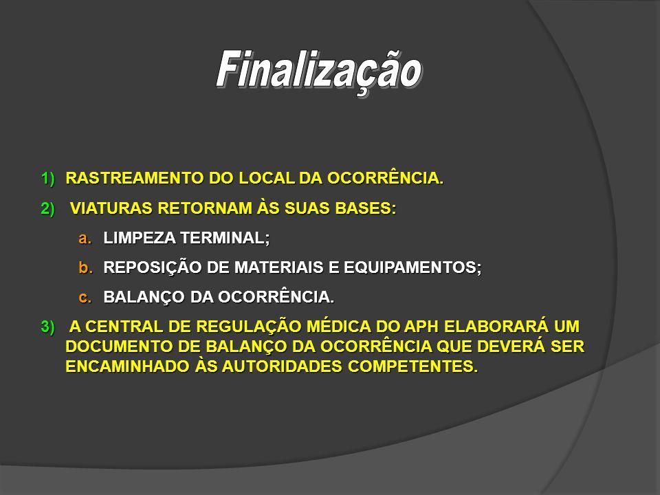 Finalização RASTREAMENTO DO LOCAL DA OCORRÊNCIA.