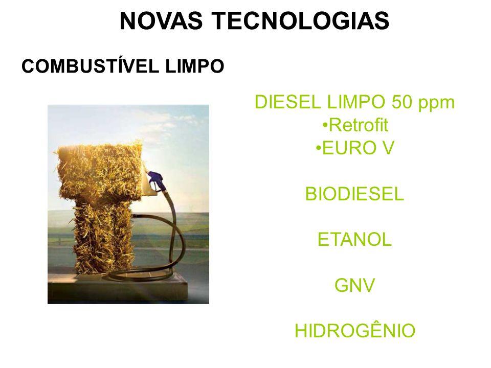 NOVAS TECNOLOGIAS COMBUSTÍVEL LIMPO DIESEL LIMPO 50 ppm Retrofit