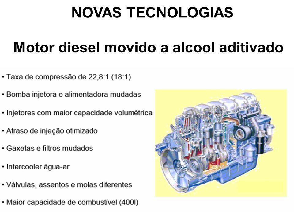 NOVAS TECNOLOGIAS Motor diesel movido a alcool aditivado