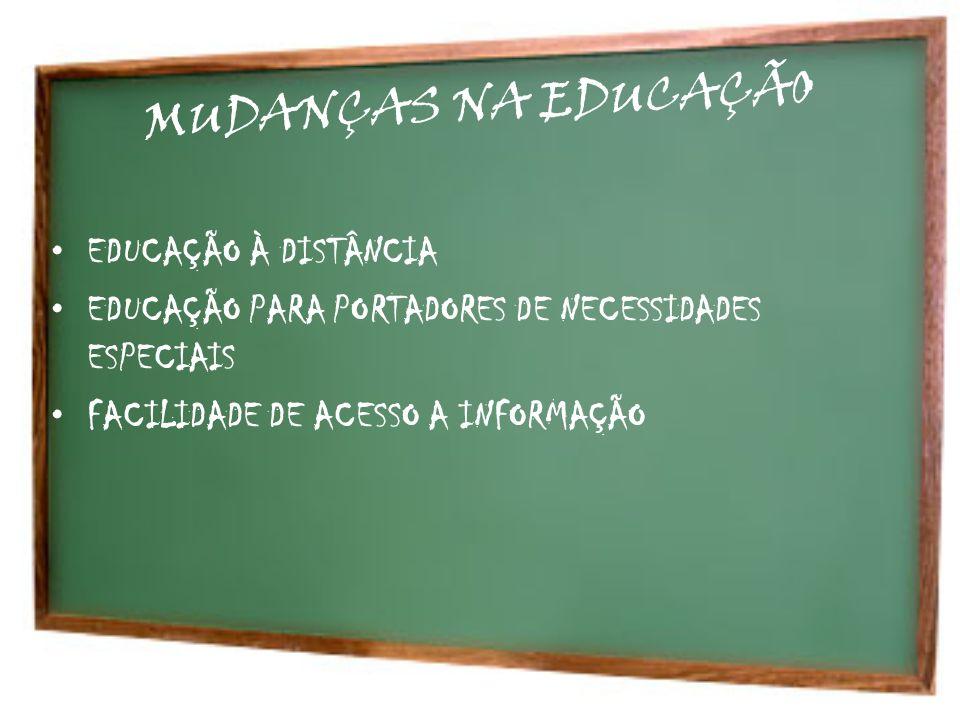 MUDANÇAS NA EDUCAÇÃO EDUCAÇÃO À DISTÂNCIA