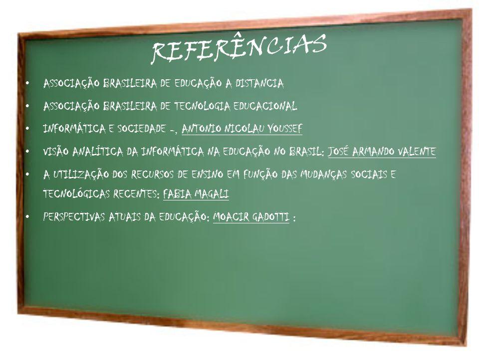 REFERÊNCIAS ASSOCIAÇÃO BRASILEIRA DE EDUCAÇÃO A DISTANCIA