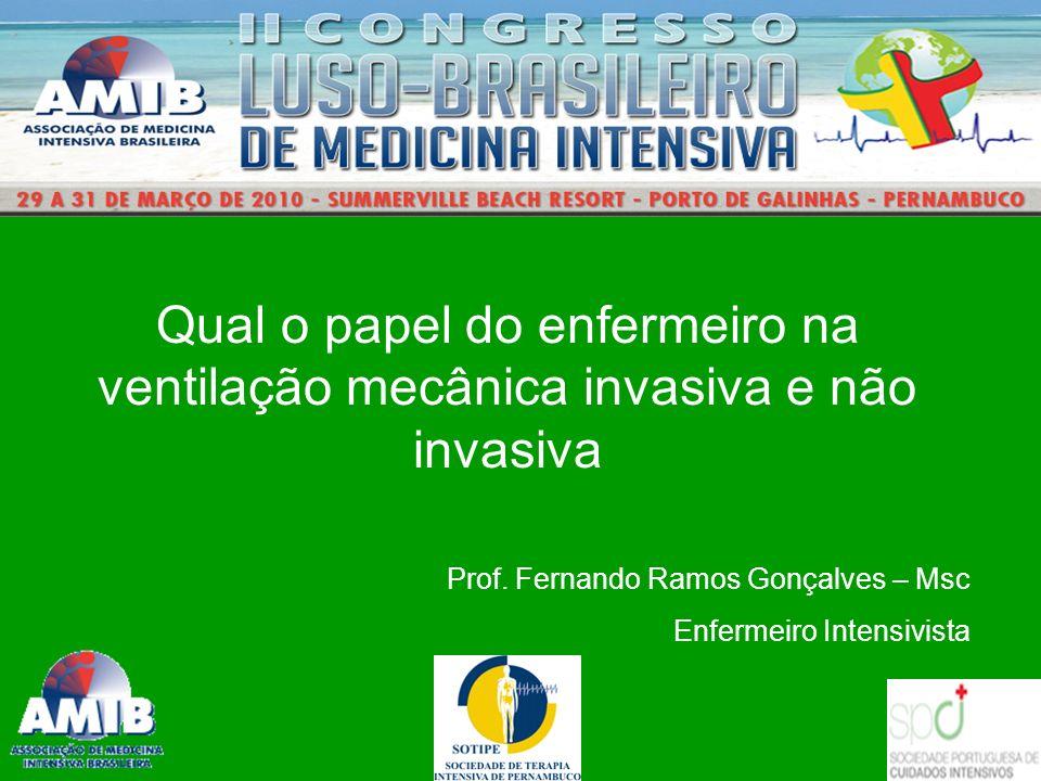 Qual o papel do enfermeiro na ventilação mecânica invasiva e não invasiva