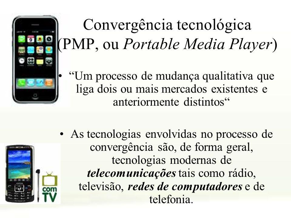 Convergência tecnológica (PMP, ou Portable Media Player)