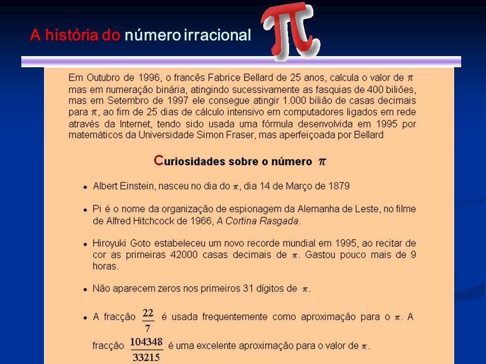 A história do número irracional