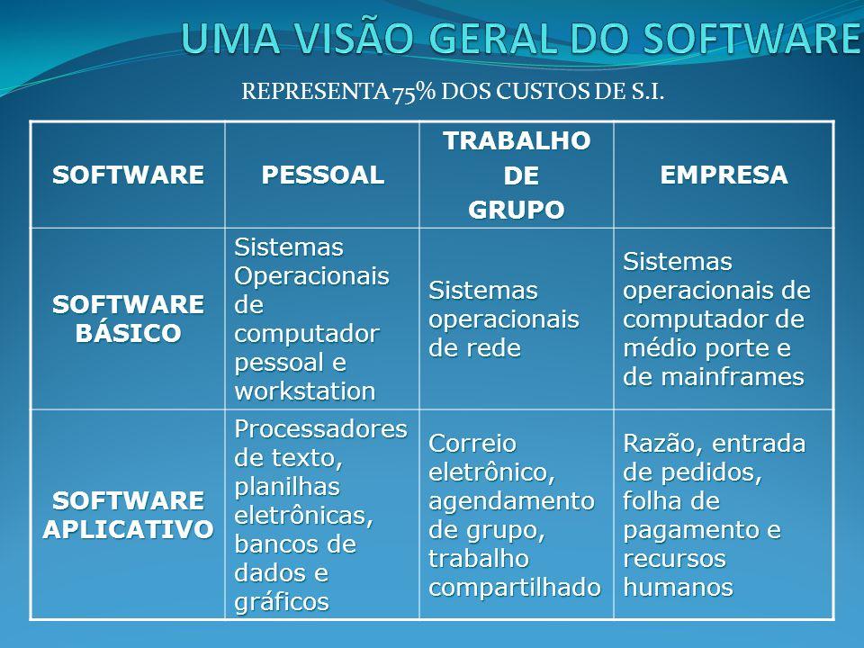 UMA VISÃO GERAL DO SOFTWARE